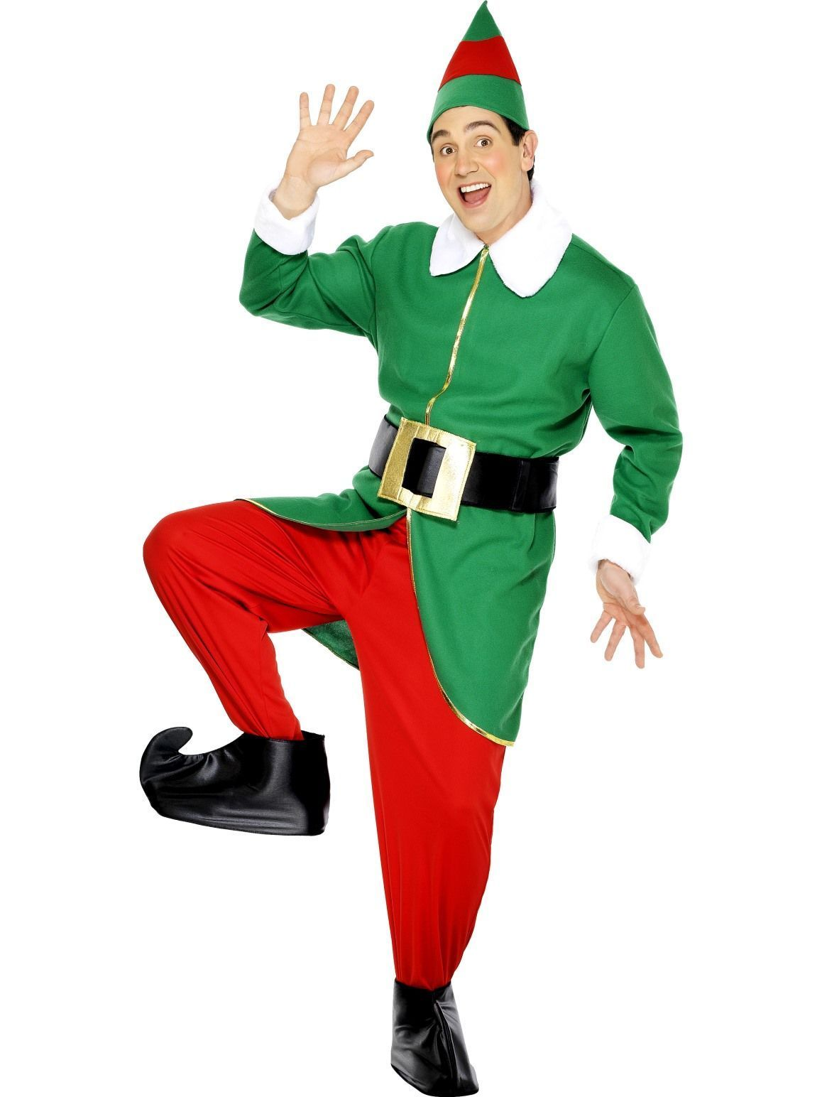 Christmas Elf Costume.Men S Christmas Elf Costume